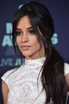 Singer Camila Cabello attends the 2016 CMT Music awards at the. Hair A, Her Hair, Camila Cabello Hair, Fangirl, Haircut Styles, L'oréal Paris, Loose Waves, Fifth Harmony, Celebs