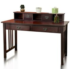 Contemporary desk wood the best choice best choice products writing desk mission cherry home office computer rmpqiix - Furnish Ideas Home Office Computer Desk, Wood Computer Desk, Wood Writing Desk, Home Desk, Home Office Furniture, Small Computer, Small Desks, Furniture Ideas, Modern Furniture