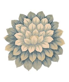 Another great find on #zulily! Blue Blooms Wool Rug #zulilyfinds