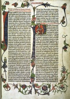 Gutenberg Bible. Earliest full- scale work printed using the Gutenberg printing press. 1455 British Library