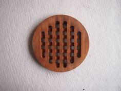 vintage wooden trivets | Wooden trivet vintage kitchen hot mat circular by ...