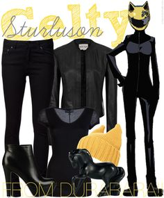 DRRR Fashion » Celty Sturluson [x]  Celty actually doesn't wear anything underneath her biker jumpsuit, but uhh, it might be best to wear a black tee or something for this casual cosplay. ^^;