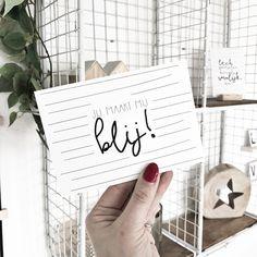 Wie maakt jou blij? Kaartje verkrijgbaar op www.winkeltjevananne.nl