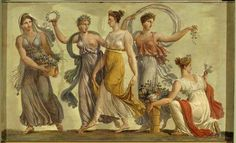 French fresco, 1797, originally in Napoleon and Josephine's house in rue Chatereine (the building was demolished in 1858), now at the Malmaison