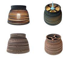 KIELICH 30 - LAMPA Z KARTONU - Nazwa:KIELICH 30 / Średnica: 30,5 cm / Wysokość: 21 cm / Cardboard lamp; #light #interior #home #design #homedesign #cardboard