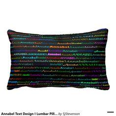 Annabel Text Design I Lumbar Pillow
