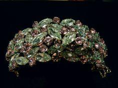 Wonderful Alexandrite Colour-Change Signed Sherman Cuff Bracelet.