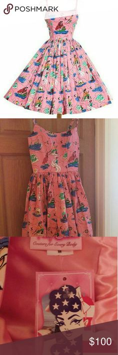 Neverland Jenny - Swap or Sell Swap: My BNWT medium Neverland Jenny for your size Large. In my haste to buy my dream dress for Christmas from the final sale, I didn't check the size chart. I'm willing to trade for a lightly worn, doesn't need to be BNWT. +++ Sell: Dress by Pinup Girl Clothing. Pink background, lined bodice with boning. Brand new with tags, I ordered the wrong size. No longer available on the website. No pockets, it is an earlier run of the design. Pinup Couture Dresses