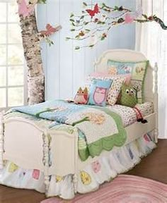 "This gives me an idea of what Kate's ""big girl room"" would look like, only with a toddler bed."
