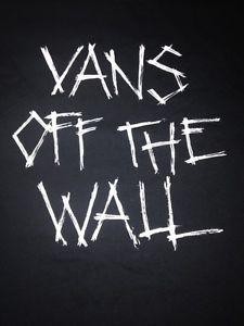 Starting Bid 4 99 Men S Large Black Vans Off The Wall T Shirt New