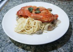 Chickan Saltimbocca with creamy mushroom tagliatelle following hellofresh recipe! Check out our thoughts on the food delivery service! Creamy Mushrooms, Stuffed Mushrooms, Fresh Food Delivery, Hello Fresh Recipes, Meals On Wheels, Meal Delivery Service, No Cook Meals, Food Photo, Spice Things Up