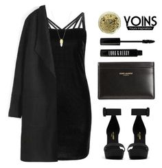 """""""YOINS (Blvck & Gvld)"""" by baludna ❤ liked on Polyvore featuring moda, Yves Saint Laurent, Topshop y Lord & Berry"""