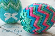 no sew quilted Easter egg pattern