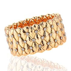 This 18kt rose gold wide stretch bracelet features 2.42cts of round diamonds. The expanding stretching action makes this bracelet easy and comfortable to slip on and off.  Handcrafted in Italy by ZYDO Italian Jewelry.