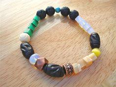 Men's Bracelet with Semi Precious Stones  Moonstone by tocijewelry, $38.00