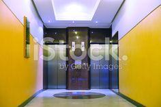 Modern elevator doors royalty-free stock photo