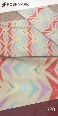 Pastel patterned leggings Brand new lularoe leggings with pastel color pattern. Do not come with tags attached. LuLaRoe Pants Leggings