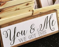 You and Me sign, wood sign, home decor, wall decor, bedroom decor Reclaimed Wood Signs, Wooden Signs, Wood Crafts, Diy Crafts, Design Blog, Wooden Decor, Diy Signs, Wall Signs, Wood Projects