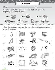 Printables S Blends Worksheets ending blends free phonics worksheet consonant r worksheet