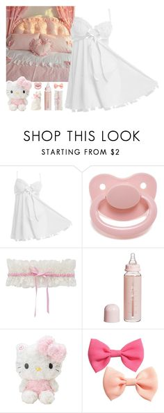 """""""404 ~The feeling in your heart will soon be shining in your eyes~"""" by snake-eyes-and-sissies ❤ liked on Polyvore featuring Trasparenze, Dolce&Gabbana, Gianna Rose Atelier, Hello Kitty and H&M"""