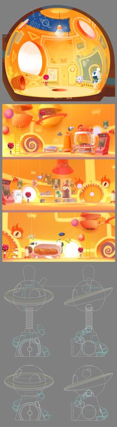 JELLY JAMM by SalBa Combe, via Behance. This is Bello's House... Simply awesome, hope you like it :)