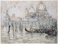 Paul Signac - Venice or, The Gondolas, 1908