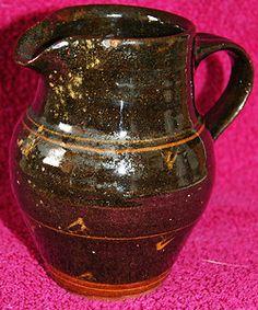 Vintage St Ives (Impressed P.R. & St. Ives) Pottery Slipware Decorated Jug