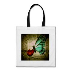 Blue Butterfly Tote Bag #butterflybag