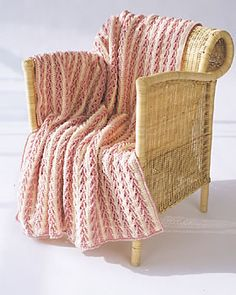 Arrow Stitch Crochet Afghan