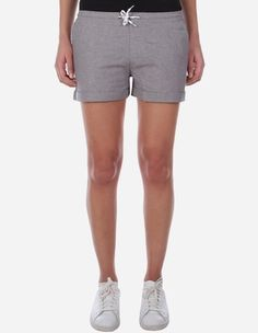 iriedaily - Chambray Girl Short grey-mel