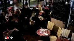WARNING GRAPHIC FOOTAGE: CCTV captured the moment Brahim Abdeslam detonated his explosive device inside a packed cafe
