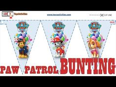 PAW Patrol Party Flags Free