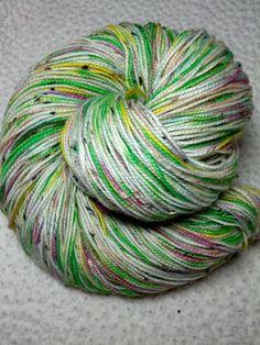 Katamari Prince in Kells sock yarn, 85% superwash  merino, 15% nylon