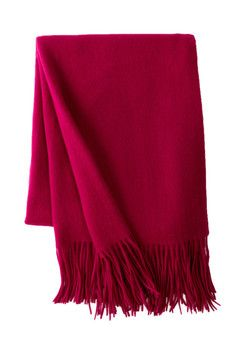Pur Cashmere Signature Cashmere Wool Blend Throw
