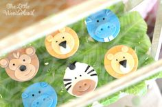 The animal cookies at this Sweet Safari Birthday Party are awesome!! See more party ideas and share yours at CatchMyParty.com