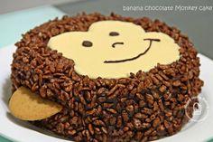 Banana Chocolate Monkey Cake round) for sponge layer: 3 large eggs, room t. Banana Chocolate Monkey Cake round) for sponge layer: 3 large eggs, room temp; Mini Cakes, Cupcake Cakes, Cupcakes, Monkey Birthday Cakes, Monkey Cakes, Cake Pictures, Home Baking, Chocolate Flavors, Chocolate Sponge