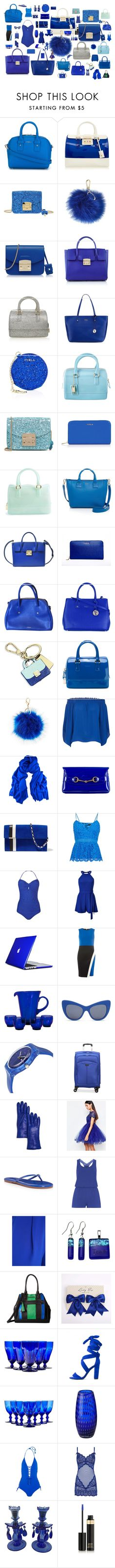 """""""Riveting Cobalt"""" by airandearth on Polyvore featuring Furla, Charlotte Russe, Biba, Black, Gucci, Tomasini, Bardot, Phase Eight, Miss Selfridge and Speck"""