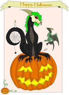 Halloween-Dragons-Happy Halloween Dragon by Gestaltwandler