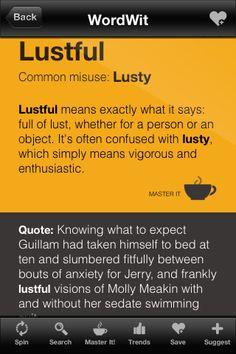 """""""Lustful"""" versus """"lusty"""""""