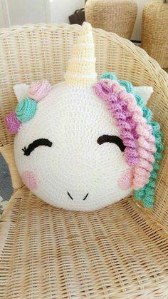 Unicorn/ unicorn gift/ crochet pattern/ unicorn pattern/ knit unicorn/ unicorn room decor/ stuffed unicorn/ pillow pattern/ knit pillow – Knitting patterns, knitting designs, knitting for beginners. Crochet Home, Crochet Gifts, Cute Crochet, Crochet For Kids, Crochet Stars, Easy Crochet, Unicorn Room Decor, Unicorn Rooms, Unicorn Gifts