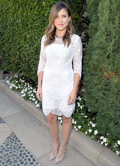 Sophia Bush attended to a fundraiser for the Rape Treatment Center on October 14th, 2012.  Dress by Katharine Kidd.