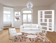 Wit doet het altijd goed in een woonkamer. Combineer het met beige voor een extra mooi en fris effect!