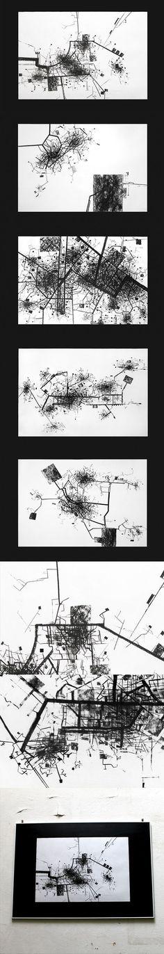 The City by Gosia Zalot, via Behance: