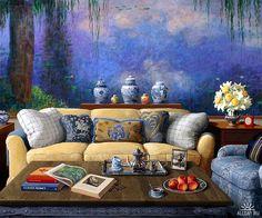 Jenness Cortez.  Homage to Claude Monet.