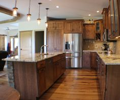 Tour a full gallery of images from this #rustic #kitchen in Lynn Center, IL provided by #QuadCities kitchen experts at Village Home Stores.   |   houzz.com