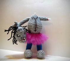 TuTu Zombie  Amigurumi Headless Zombie Doll  OOAK by MadebyJody666