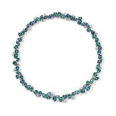 "asprey chaos necklace | Asprey ""Chaos"" necklace of mixed cut tourmalines & diamonds. I covet this!"