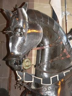 Armored Horse in the Great Hall at Warwick Castle by mharrsch Medieval World, Medieval Knight, Medieval Armor, Medieval Times, Horse Armor, Arm Armor, Knight In Shining Armor, Knight Armor, Ancient Armor
