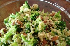 Broccoli Salad With Quinoa, Scallions and Roasted Cashews [Vegan] | One Green Planet