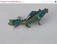 ON SALE Nice Chinese Silver Blue Enamel Articulated by acrazeelady